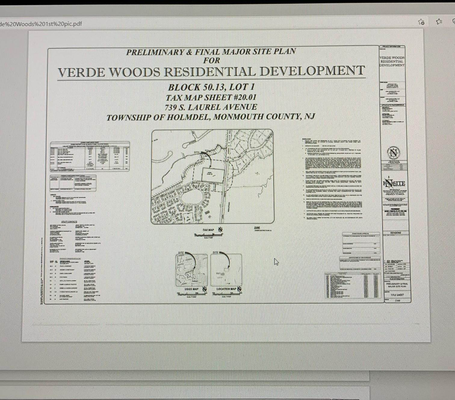 Land for Sale at 739 Laurel Avenue Holmdel, New Jersey 07733 United States
