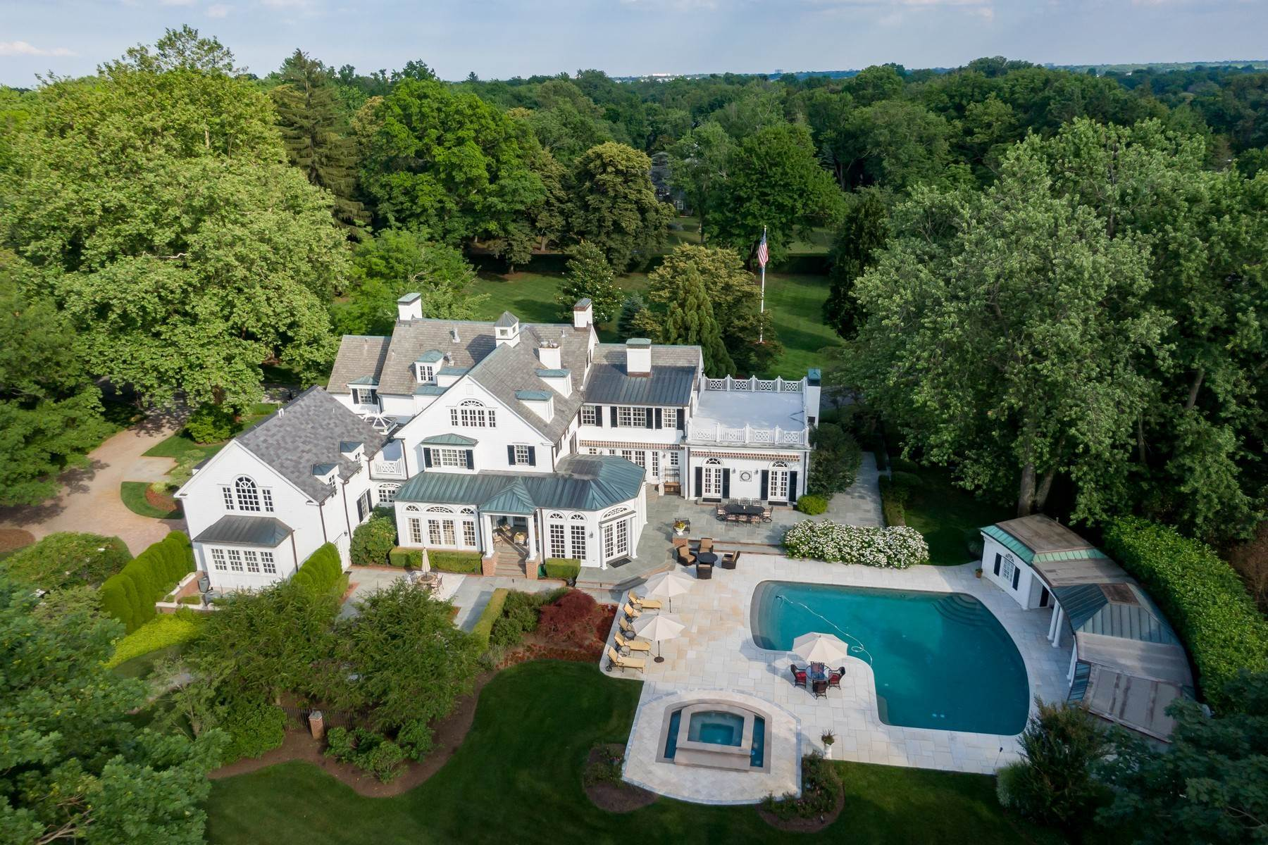 Single Family Homes for Sale at Luxurious Estate with All the Updates and Space Designed for Today's Living 178 Rumson Road Rumson, New Jersey 07760 United States