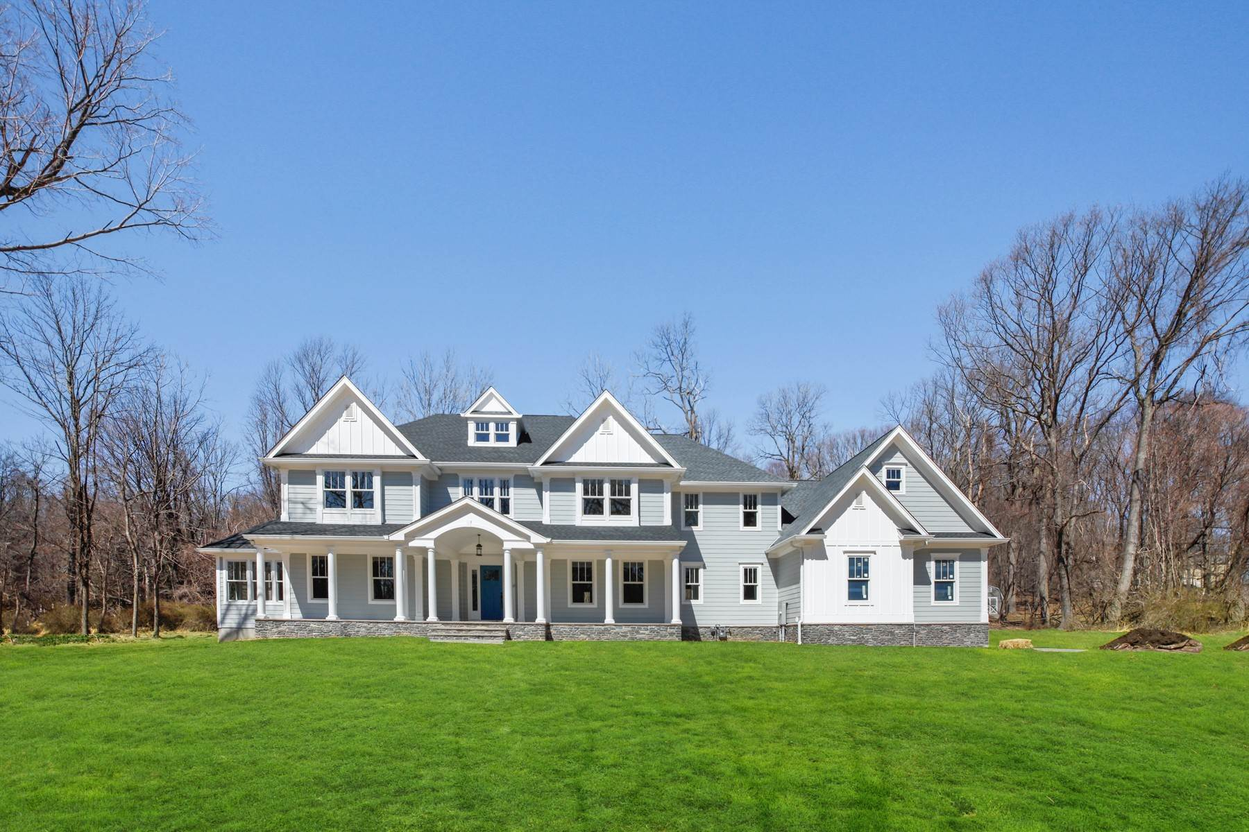 Single Family Homes for Sale at Gorgeous Custom Estate 43 Mount Pleasant Road Mendham, New Jersey 07945 United States
