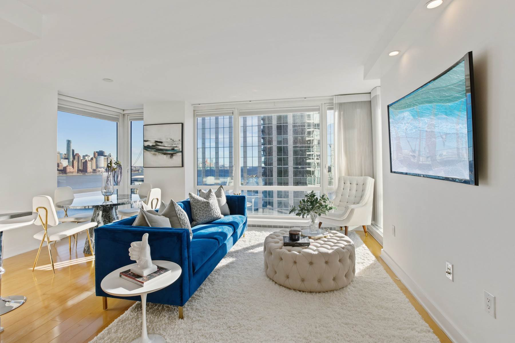 Condominiums for Sale at Located in the highly coveted Crystal Point in Jersey City. 2 2nd Street, Unit 1406 Jersey City, New Jersey 07302 United States
