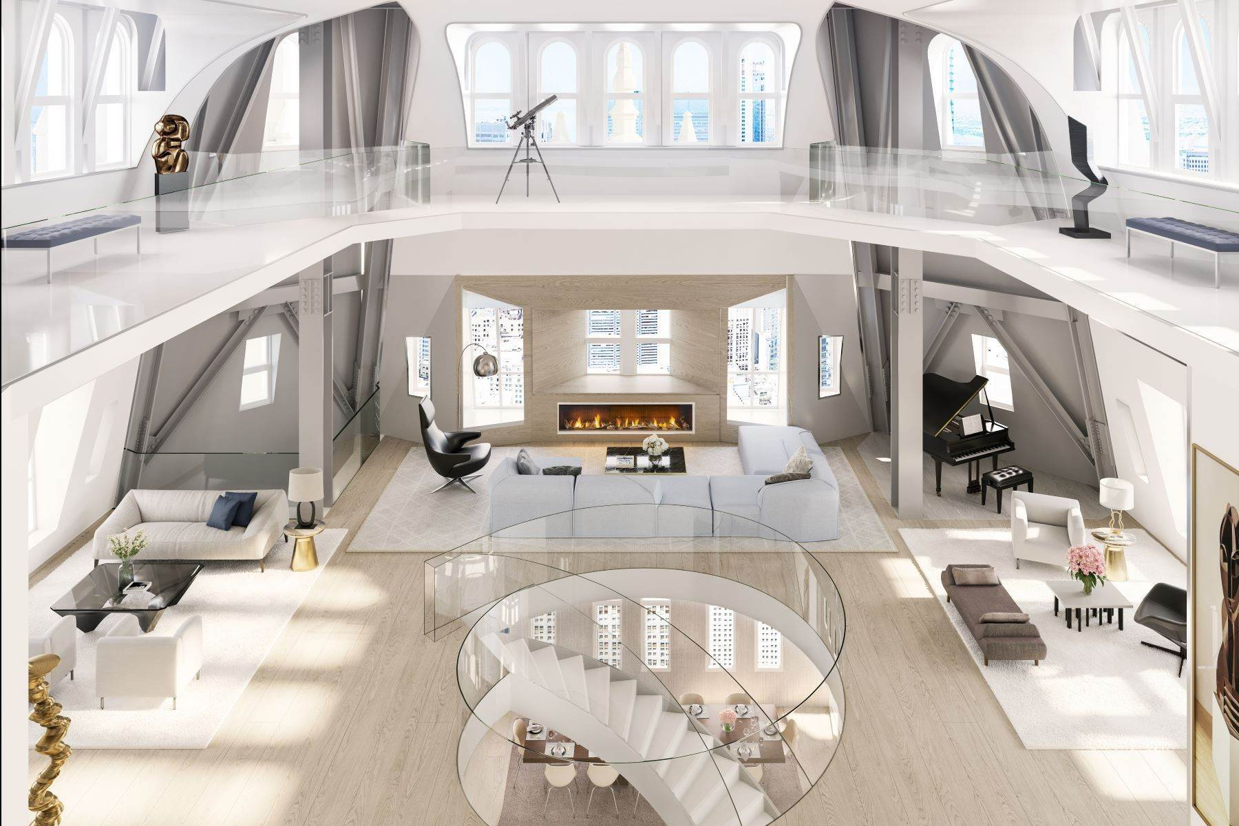 5. Condominiums for Sale at The Pinnacle Penthouse 2 Park Place, Pinnacle Penthouse New York, New York 10007 United States